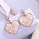 Korean fashion metal sweet and simple peach heart earrings wholesale nihaojewelry NHSC219067