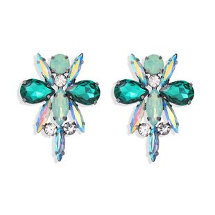 fashion  new color diamond dragonfly modeling exaggerated full diamond insect creative fashion earrings wholesale nihaojewelry  NHJQ218865's discount tags