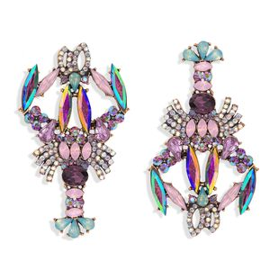 fashion exaggerated personality color diamond crayfish earrings niche design fashion cute fashion earrings wholesale nihaojewelry  NHJQ218873's discount tags