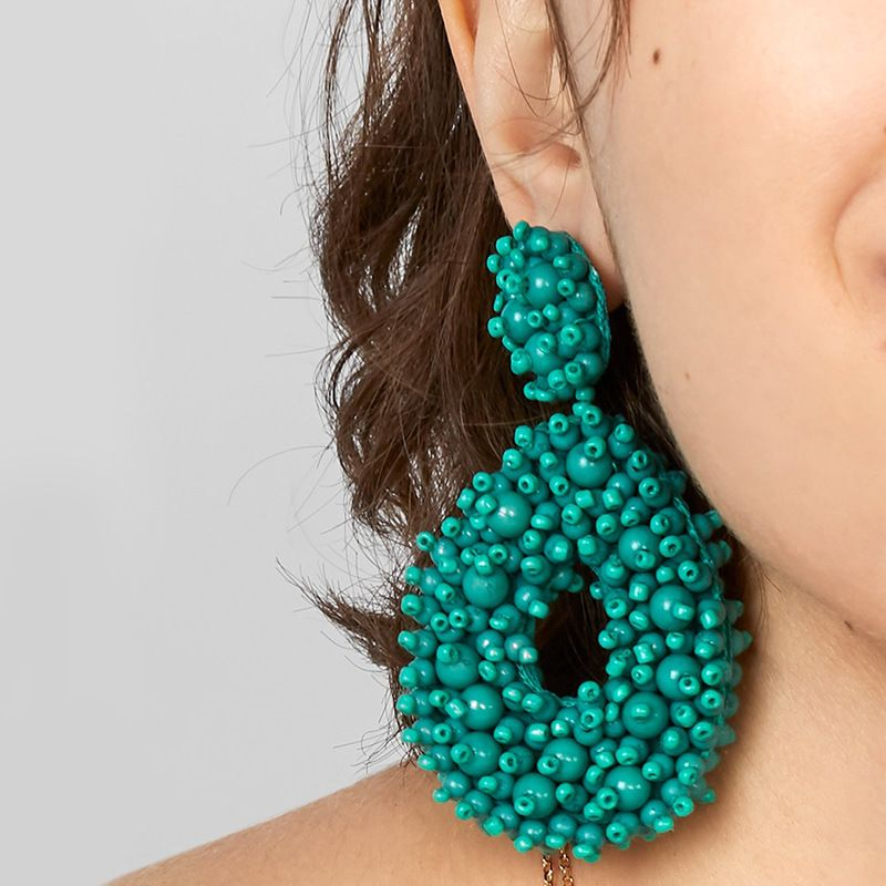 Explosion Bohemian Earrings Exaggerated Earrings Woven Bead Earrings wholesale nihaojewelry NHAS218885