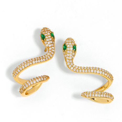 mode créative micro-ensemble zircon boucles d'oreilles serpent filles boucles d'oreilles tempérament simple boucles d'oreilles serpent en gros nihaojewelry NHAS218894's discount tags
