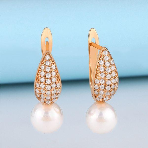 Korean new jewelry pearl style earrings temperament pearl earrings wholesale nihaojewelry NHAS218897