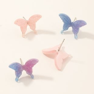 fashion jewelry small butterfly lilac ancient style earrings super fairy simple cold wind earrings wholesale nihaojewelry NHNZ218909's discount tags