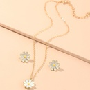 fashion jewelry cute and sweet dripping flower necklace wild small daisy earring set wholesale nihaojewelry NHNZ218918