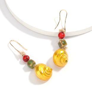 Fashionable summer beach ocean wind shell ear hook ear hook earrings retro ethnic style earrings wholesale nihaojewelry  NHJE218936's discount tags