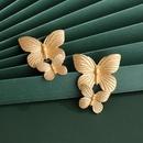 Jewelry big jewelry metal big butterfly wings exaggerated big earrings wholesale nihaojewelry NHJJ218937