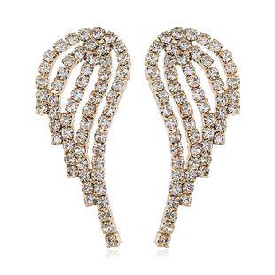 Pendientes de temperamento dulce creativo de moda coreana alas de oro pendientes de diamantes de aleación al por mayor nihaojewelry NHVA218965's discount tags