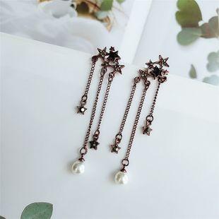 925 aguja de plata moda simple estrella borla pendientes feminidad nueva ola personalidad pendientes venta al por mayor nihaojewelry NHVA218968's discount tags