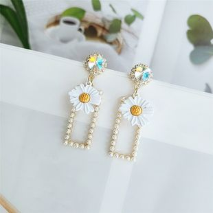 new wave earrings simple flower earrings fashion temperament niche personality ear jewelry wholesale nihaojewelry  NHVA218969's discount tags