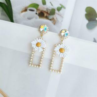 Nueva ola pendientes simples pendientes de flores moda temperamento nicho personalidad joyería del oído al por mayor nihaojewelry NHVA218969's discount tags