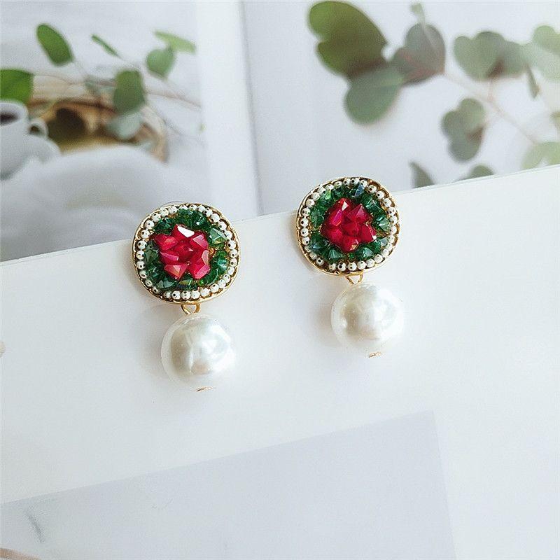 temperament Korean personality wild imitation pearl earrings fashion long earrings exaggerated earrings wholesale nihaojewelry  NHVA218970