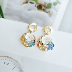 Korean  fashion color flower earrings popular personality simple earrings accessories wholesale nihaojewelry   NHVA218974's discount tags
