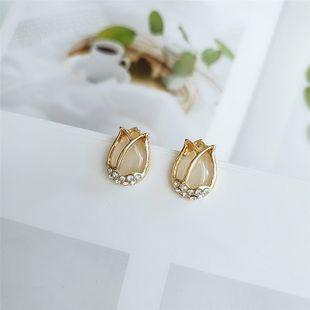 Pendientes de flores de personalidad salvaje de moda japonesa y coreana pendientes de temperamento femenino simple pendientes de nihaojewelry al por mayor NHVA218975's discount tags