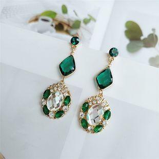 925 pendientes de diamantes de aleación de aguja de plata temperamento nuevos pendientes de hoja de marea al por mayor nihaojewelry NHVA218976's discount tags