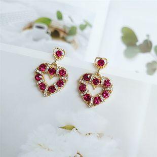 Japanese and Koreanfashion new wave of personality love earrings earrings 925 silver needle earrings simple earrings wholesale nihaojewelry  NHVA218977's discount tags
