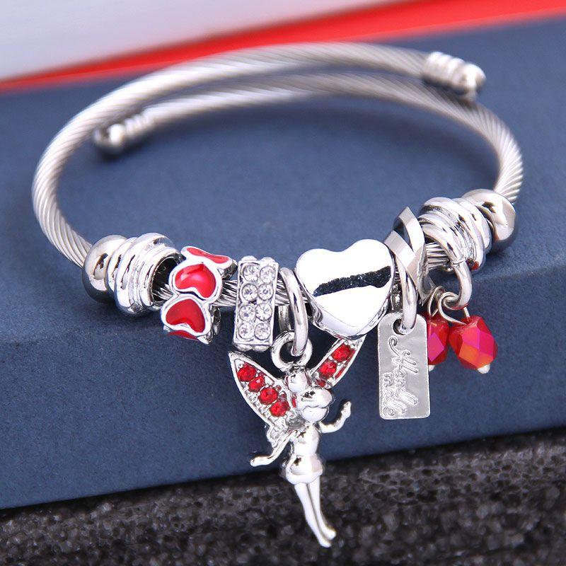 fashion metal wild pan DL simple wild ballet girl pendant multi-element accessories personalized bracelet wholesale nihaojewelry NHSC219338