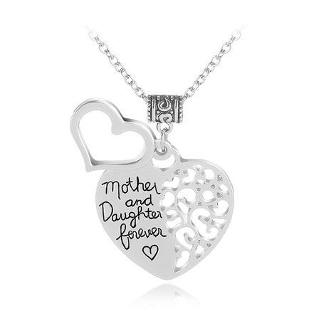 Nouveau collier amour lettrage mère et fille pour toujours accessoires collier en gros nihaojewelry NHMO219015's discount tags