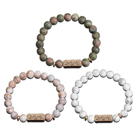 Explosion Bracelet Bracelet Natural Energy Volcano Active Faith Seven-Pulse Yoga Colorful Bracelet wholesale nihaojewelry NHMO219019's discount tags