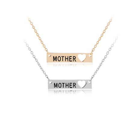 Explosion Necklace Hot Fashion Mother Letter Necklace Family Warm Pendant Necklace wholesale nihaojewelry  NHMO219038's discount tags