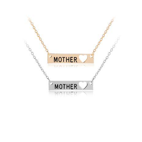Collar de explosión Collar de carta madre de moda caliente Collar colgante familiar cálido al por mayor nihaojewelry NHMO219038's discount tags