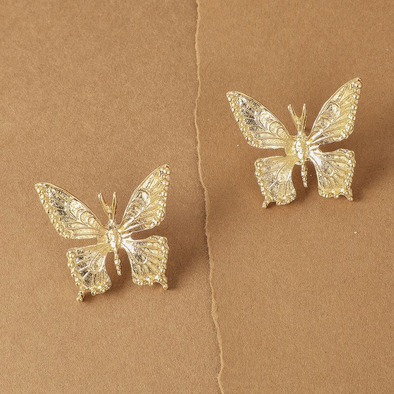 new jewelry fashion popular alloy butterfly earrings creative retro insect earrings wholesale nihaojewelry NHGY219079