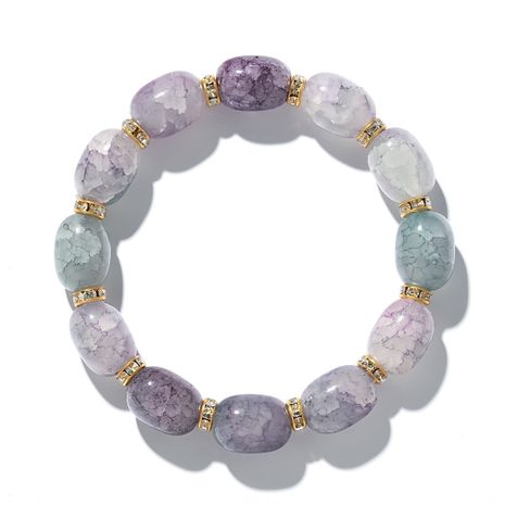 new handmade beaded color series colorful crystal bracelets bead bracelet accessories wholesale nihaojewelry NHGY219093's discount tags