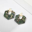 new fashion craft tassel acrylic earrings geometric hexagon earrings female wholesale nihaojewelry NHGY219094
