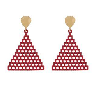 Japón y Corea del Sur nuevas joyas pendientes simples triángulo vacío pendientes piramidales creativos pendientes geométricos al por mayor nihaojewelry NHGY219099's discount tags