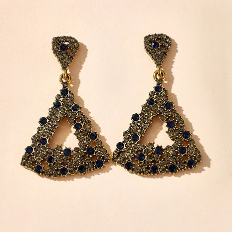 fashion new exaggerated temperament long triangle diamond rhinestone retro earrings personalized earrings wholesale nihaojewelry  NHGY219108's discount tags