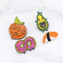 new brooch creative cute donut cartoon yellow peach avocado sushi cowboy badge wholesale nihaojewelry  NHMO219121
