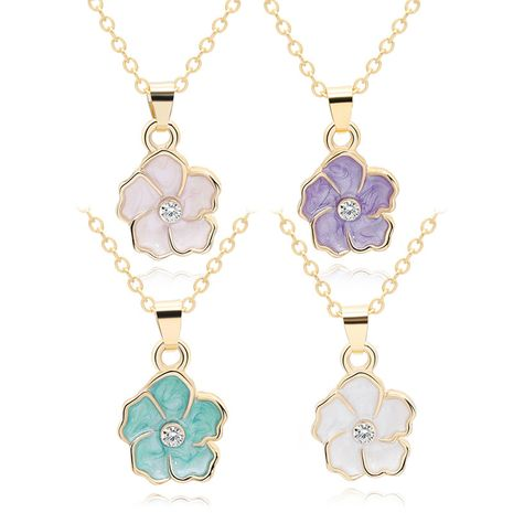 New fashion necklace wild color cute sun flower necklace clavicle chain female personality flower necklace decoration wholesale nihaojewelry  NHMO219125's discount tags