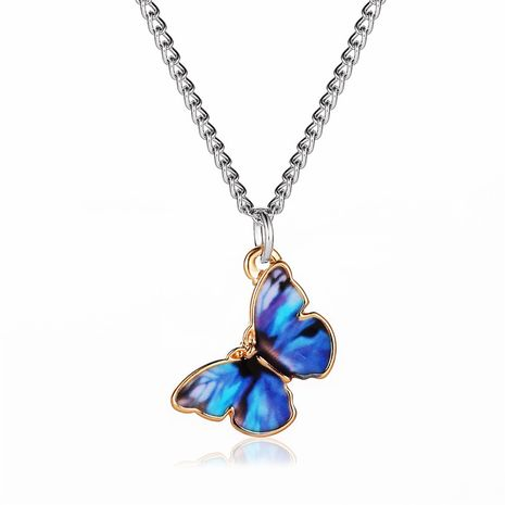 new butterfly necklace personality simple pendant girlfriends couple necklace clavicle chain jewelry wholesale nihaojewelry  NHMO219149's discount tags
