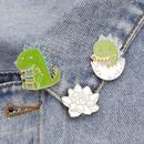 new small dinosaur brooch egg shell dinosaur baby badge cute lotus badge bag cowboy badge wholesale nihaojewelry  NHMO219157