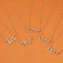 New fashion necklace personality creative twelve constellation necklace female retro English alphabet pendant clavicle chain wholesale nihaojewelry NHMO219179