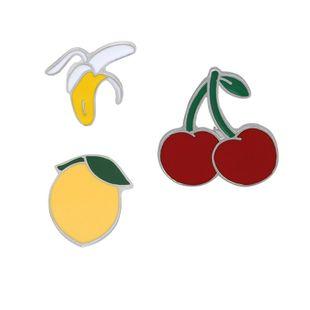 fashion brooch creative fruit brooch cherry banana water peach fun fruit brooch brooch accessories wholesale nihaojewelry NHMO219227's discount tags