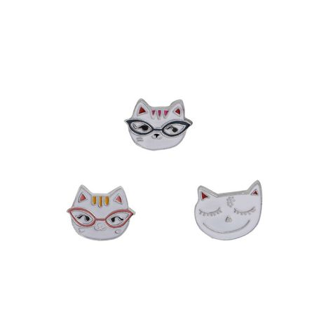 fashion kitten head brooch cartoon cute cat glasses suit badge brooch collar needle clothing accessories wholesale nihaojewelry NHMO219233's discount tags