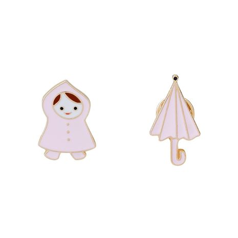 Fashion brooch cartoon cute fashion accessories kids umbrella brooch clothing accessories bag accessories wholesale nihaojewelry NHMO219234's discount tags