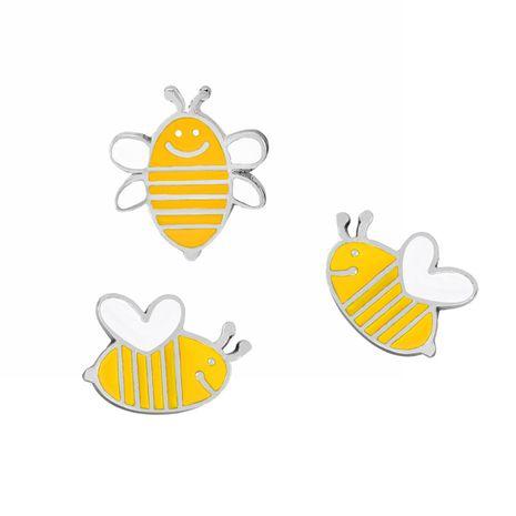 Fashion brooch hot sale cartoon cute dumb cute three little bee brooch suit wholesale nihaojewelry NHMO219238's discount tags