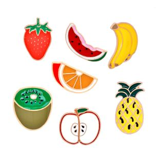 Fashion brooch creative fruit series watermelon strawberry apple banana pineapple brooch ladies accessories wholesale nihaojewelry NHMO219245's discount tags