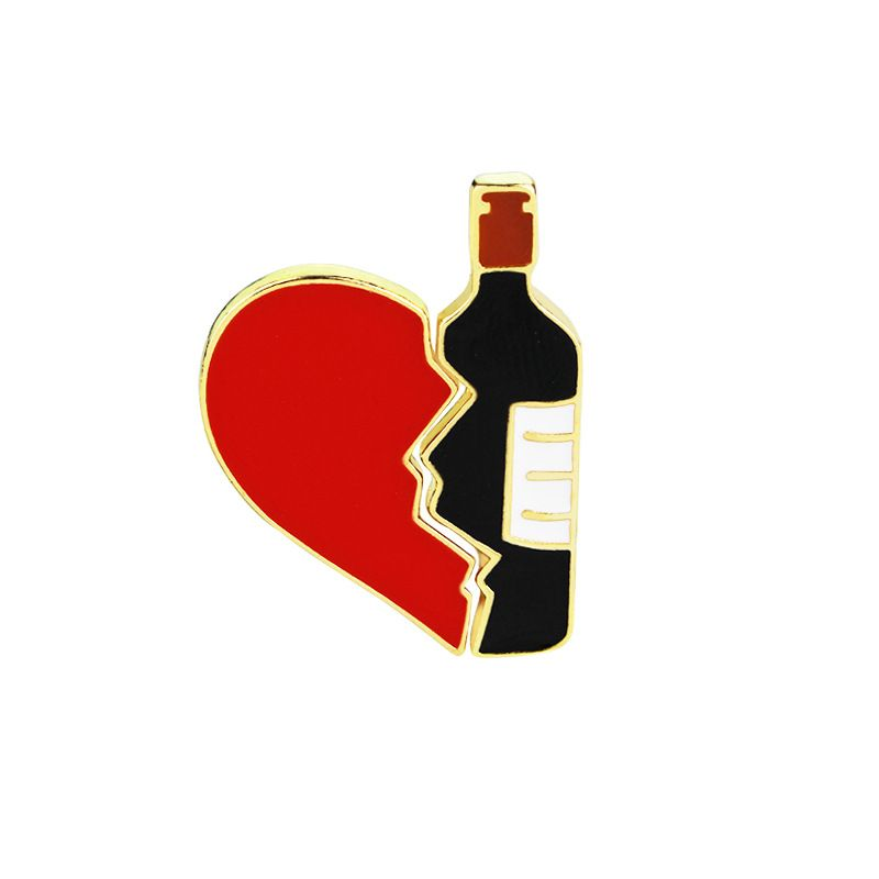 Fashion brooch personality love red wine stitching brooch shirt bag accessories accessories wholesale nihaojewelry NHMO219248