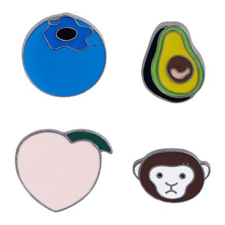 Fashion brooch creative cartoon cute brooch small fresh avocado monkey peach blueberry brooch wholesale nihaojewelry NHMO219251's discount tags