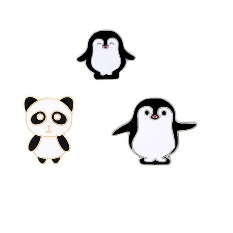 Fashion explosion brooch cartoon cute panda size penguin brooch fashion hot clothing accessories bags wholesale nihaojewelry NHMO219260's discount tags