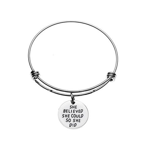 fashion alloy bracelet English alphabet ladies bracelet wholesale nihaojewelry NHMO219270's discount tags