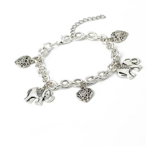 bracelet de mode femmes rétro sculpté amour éléphant pendentif bracelet bracelet de cheville dames bijoux en gros nihaojewelry NHMO219274's discount tags