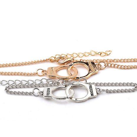 pulseras de moda personalidad tendencia salvaje 8 palabra esposas pulsera accesorios de moda al por mayor nihaojewelry NHMO219275's discount tags