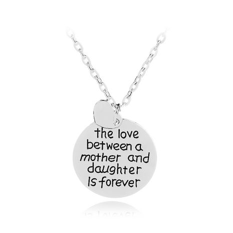 fashion necklace with letters The love between a motherdaughter is forever  wholesale nihaojewelry NHMO219292's discount tags