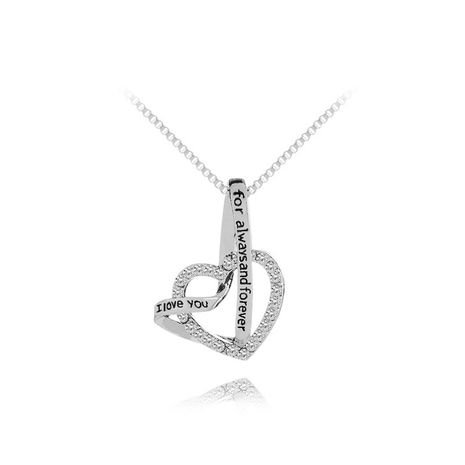 explosion models mother's day gift and love meet i love you for always andforever necklace wholesale nihaojewelry NHMO219295's discount tags