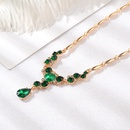 New Necklace Hot sale Jewelry Noble Crystal Necklace Earrings Temperament Jewelry  wholesale nihaojewelry NHMO219297