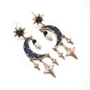 New silver needle sun earrings moon earrings family fashion earrings copper inlaid zircon fashion wild earrings wholesale nihaojewelry NHLJ219303