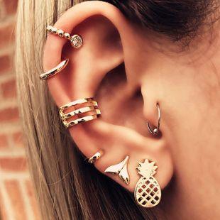 hot sale alloy fishtail pineapple fruit earrings combination set 7 piece set wholesale nihaojewelry NHPJ219322's discount tags